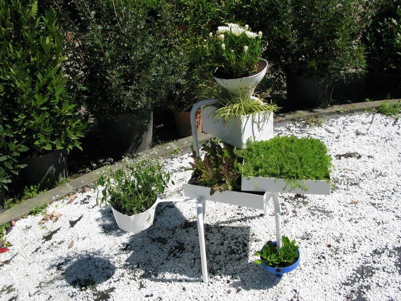 Riciclo creativo con aiuole fiorite al fuori salone for Aiuole fiorite immagini
