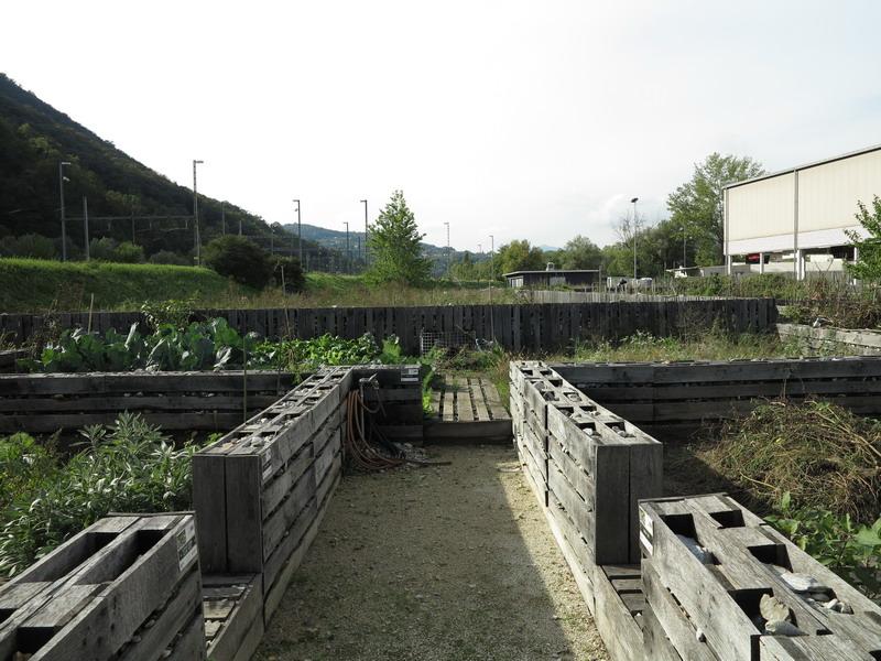 Costruire gli orti con i pallets: un'idea dagli orti di Chiasso