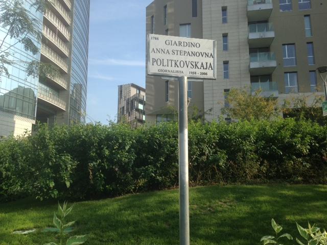 Un piccolo giardino intitolato a una grande giornalista