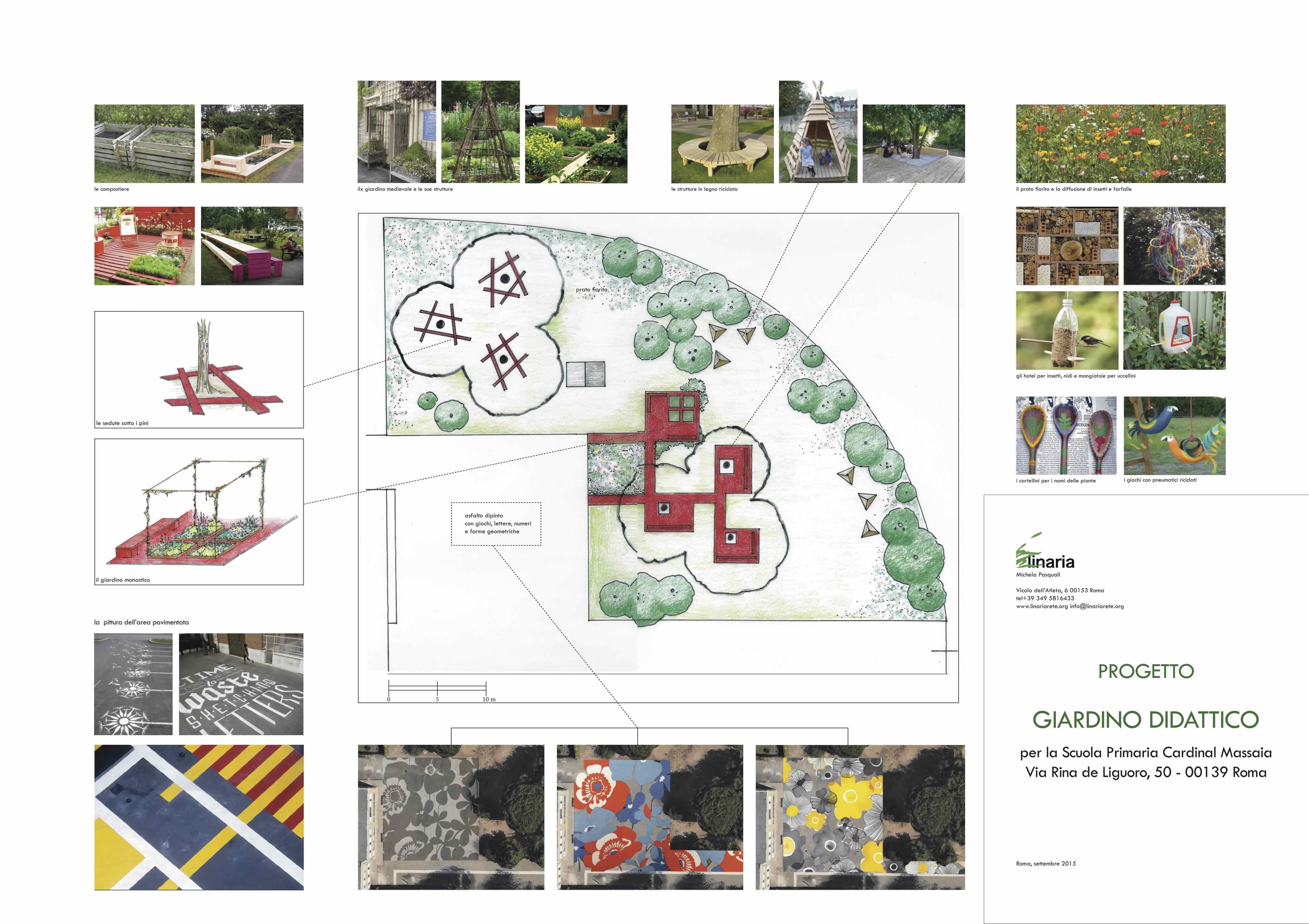 Il progetto di Linaria per un giardino di una scuola romana