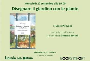 Presentazione del mio libro Disegnare il giardino con le piante alla Libreria della natura
