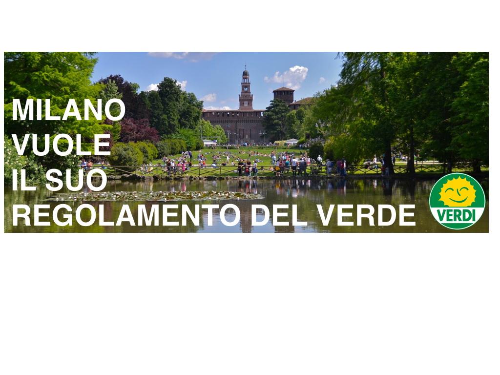 Milano vuole il suo regolamento del verde