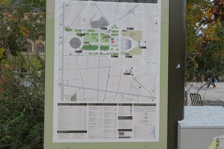 Jardin Mandela planimetria