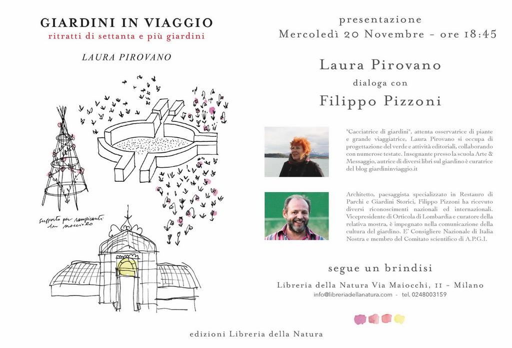 Filippo Pizzoni dialoga con Laura Pirovano alla Libreria della natura
