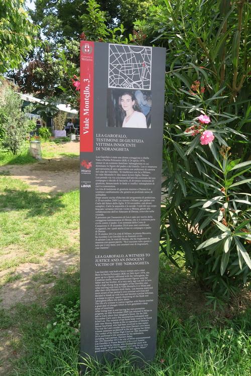 Il giardino comunitario dedicato a Lea Garofalo